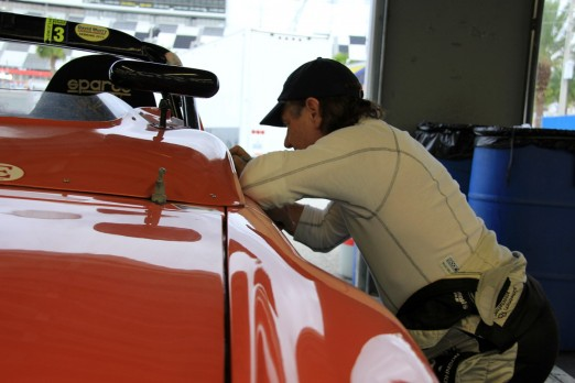 Brian Johnson writing on Brenda's car 2013 11 15