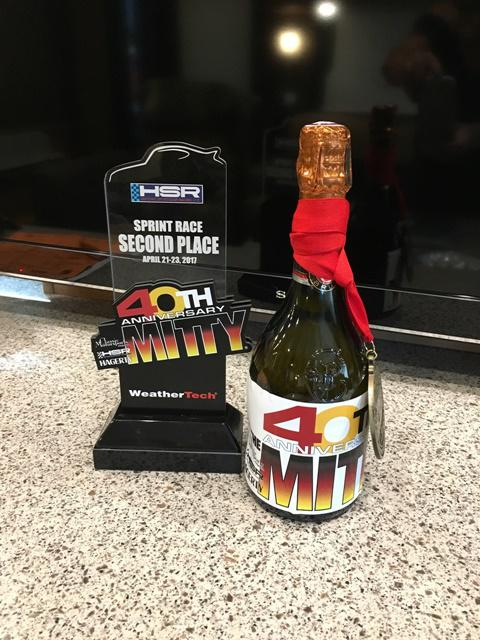 Mitty Second Place Trophy and Champagne