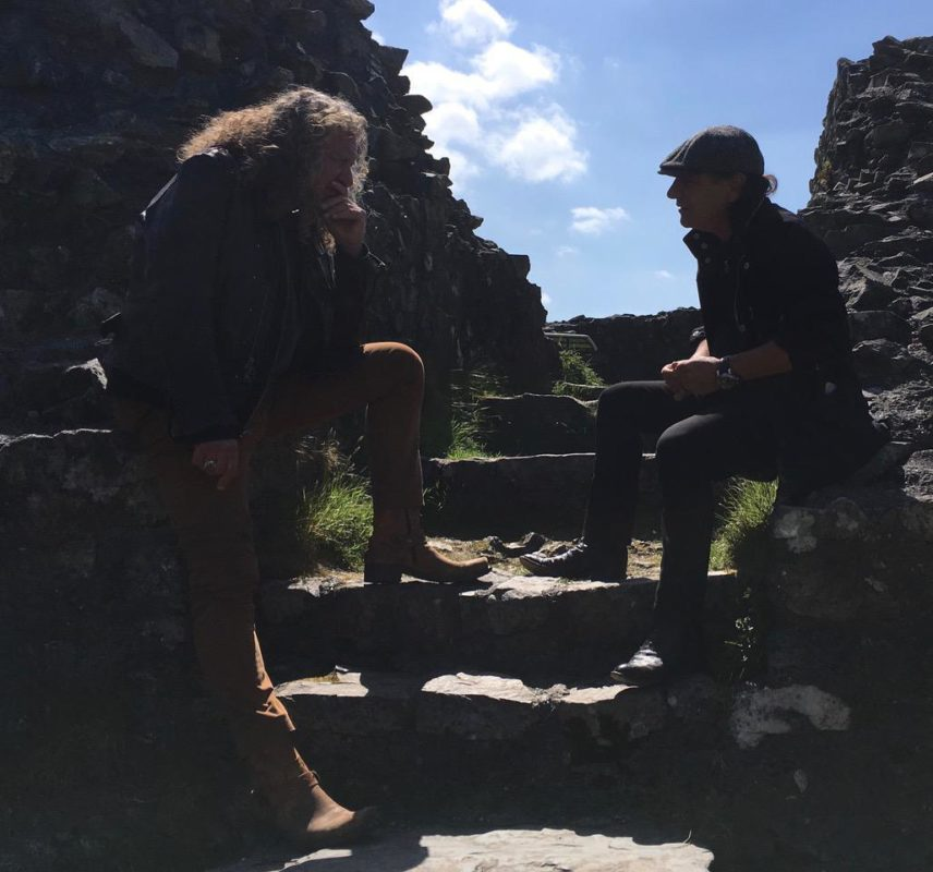 Brian Johnson with Robert Plant in Wales