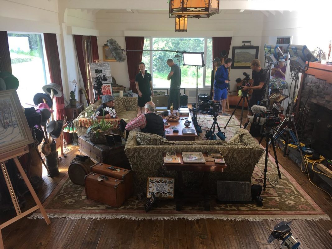 Brain Johnson filming with Mick Fleetwood at his beautiful Hawaiian home
